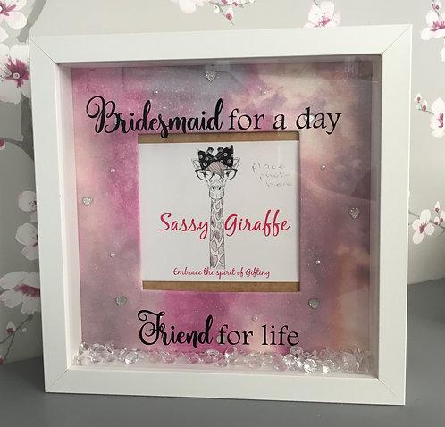 Bridesmaid 3D Box Frame
