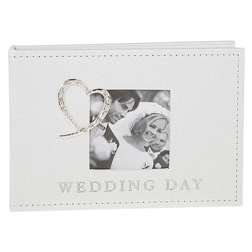 Diamante Heart Wedding Album