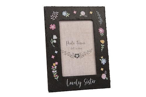 Lovely Sister Slate Frame