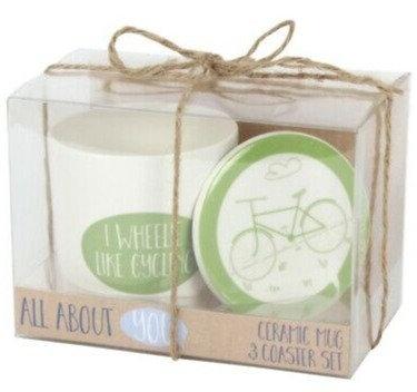 Cycling Mug and Coaster Set