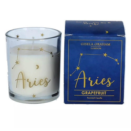 Aries Zodiac Sign Candle