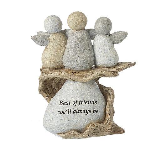 Best Friends Resin Stone