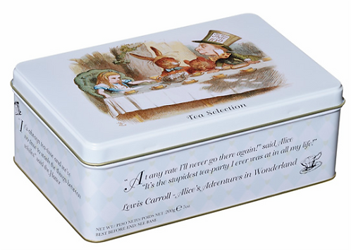 Alice in Wonderland Tea Tin
