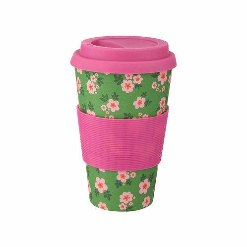 Floral Bamboo Travel Mug