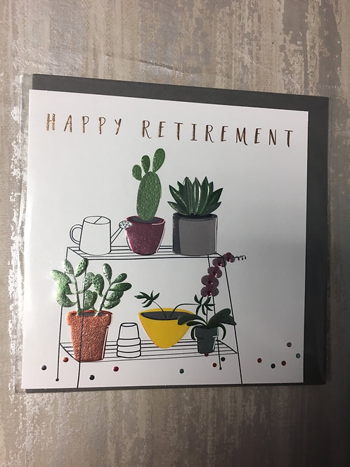 Happy Retirement Plant Card