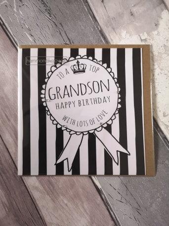 Top Grandson Badge Card