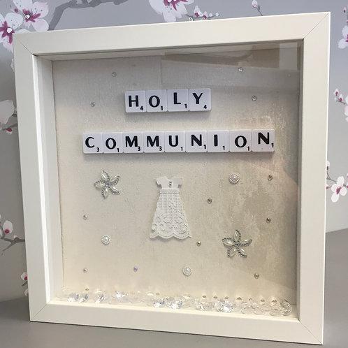 Girls Holy Communion 3D Box Frame