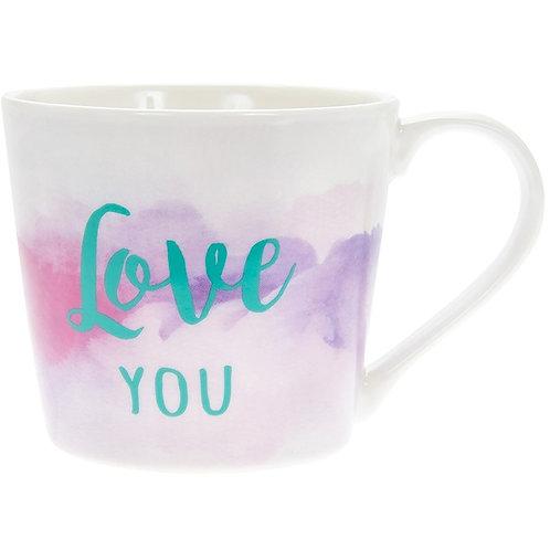 Watercolour Love You Mug