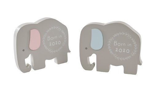 Born in 2020 Keepsake Elephant Block