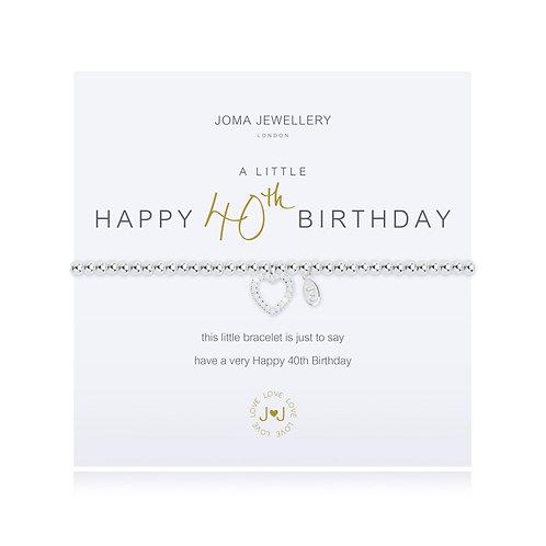 Joma A Little Happy 40th Birthday Bracelet