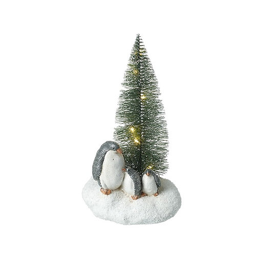 Penguin and Christmas Tree Ornament Decoration