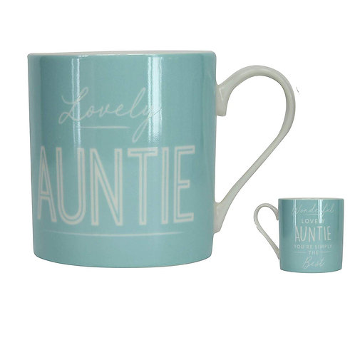 Lovely Auntie Pastel Green Mug