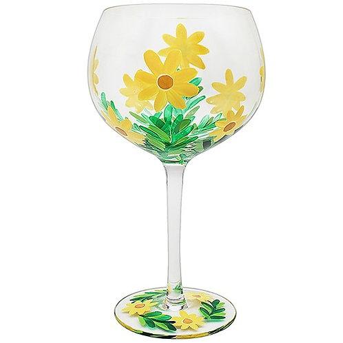 Daisy Flower Gin Glass