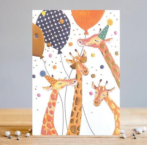 Giraffe Party Card