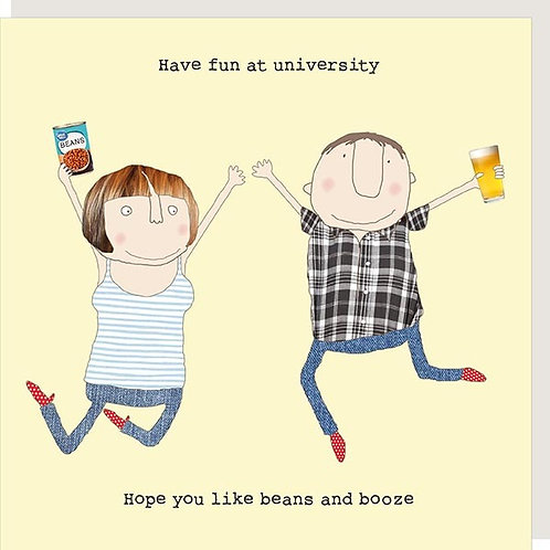 University Beans and Booze Card
