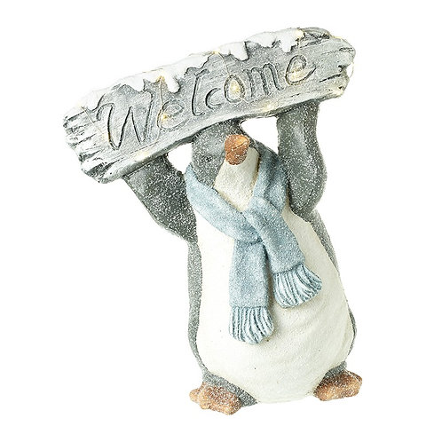 Welcome Penguin Decoration with LED Lights