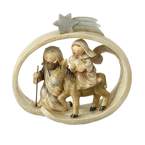 Nativity Scene In Frame Ornament