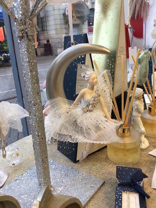 Ballerina on Moon Resin Decoration