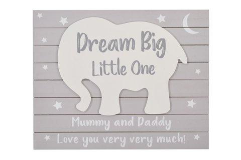 Dream Big Elephant Plaque