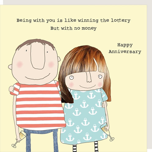 Lottery Anniversary Card