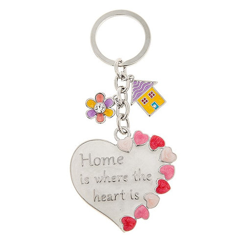Home Is Where The Heart Is Keyring
