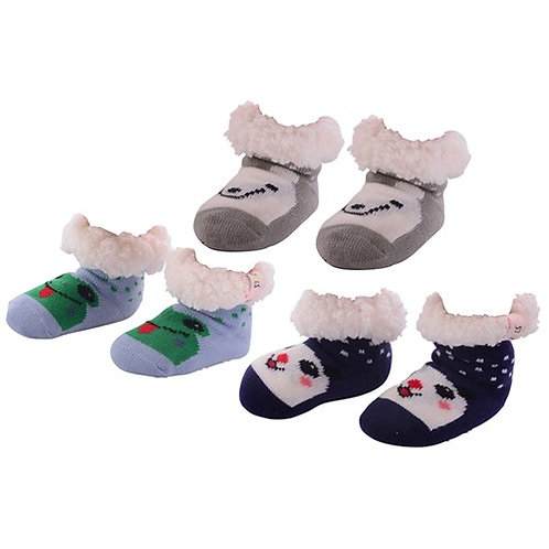 Toddler Boys Animal Nuzzles Slipper Socks