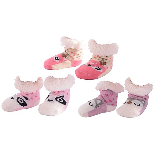 Toddler Girls Animal Nuzzles Slipper Socks