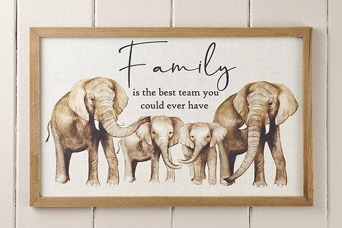 Elephant Family Plaque