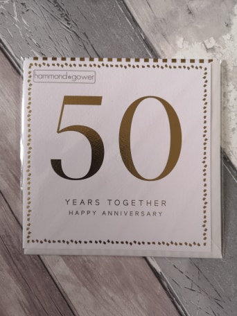 50 Years Together Card