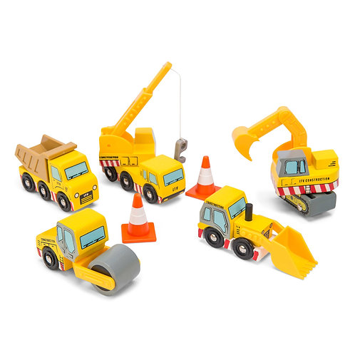 Le Toy Van Construction Car Set