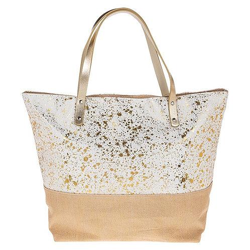 Metallic Splash Tote Bag