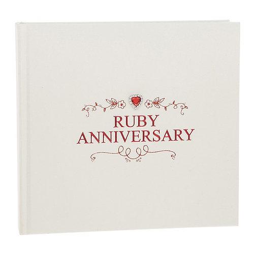 Jewel Ruby Wedding Anniversary Album Large