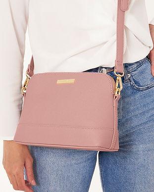 Harper Cross Body Bag Pink Wearing View