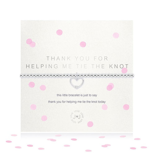Joma Thank You For Helping Me Tie The Knot Bracelet With Confetti