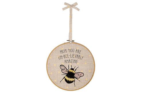 Mum Bee Hanging Hoop