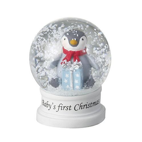 Baby's 1st Christmas Penguin Snowglobe