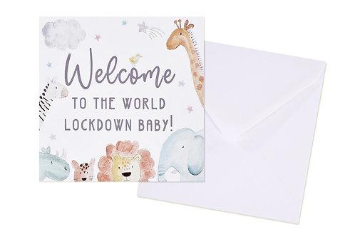 Lockdown Baby Card
