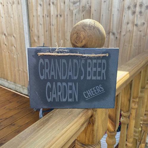Grandad's Beer Garden Slate Sign