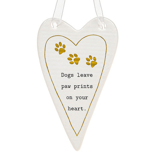 Dog Ceramic Hanging Heart