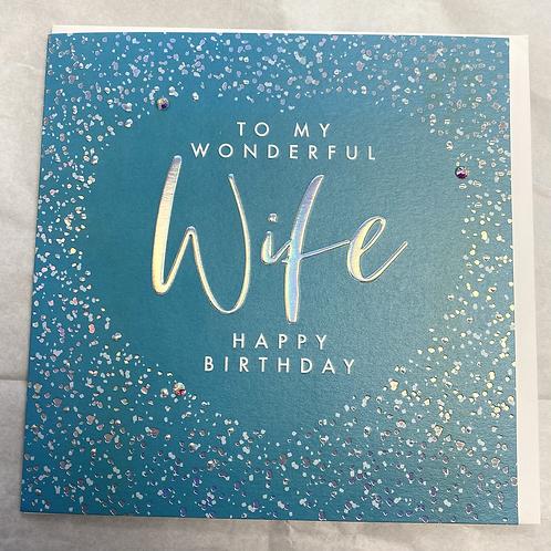To My Wonderful Wife Birthday Card