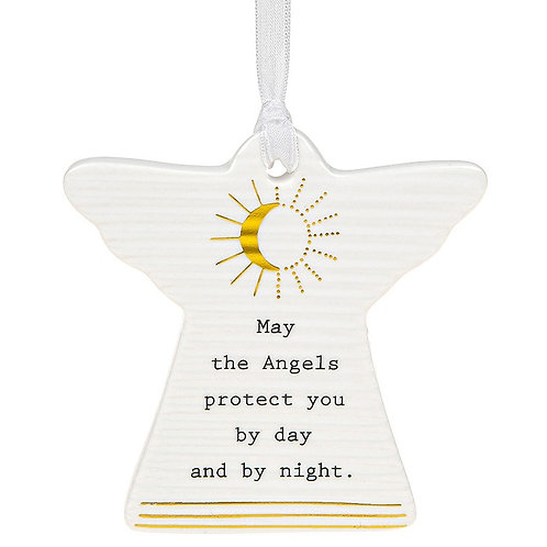May The Angels Ceramic Hanging Angel