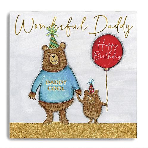 Wonderful Daddy - Daddy & Little Bear Birthday Card