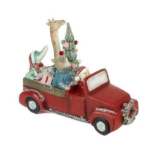 Animal Car and Christmas Tree Ornament