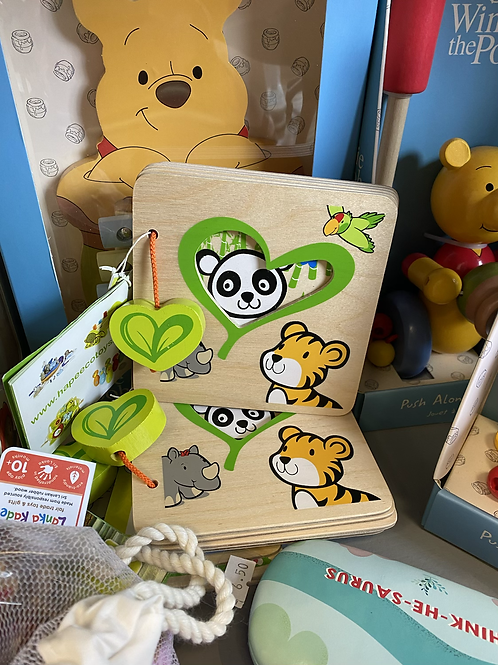 Hape Jungle Animals Wooden Board Book