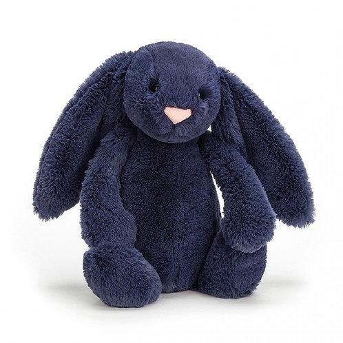 Jellycat Navy Bashful Bunny Medium
