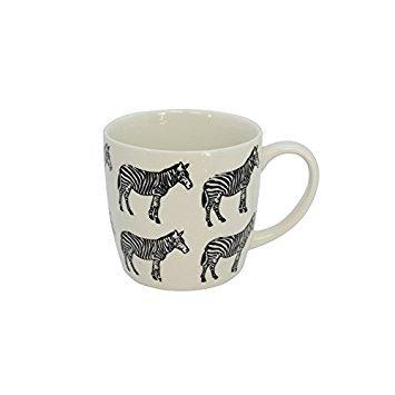 White Ceramic Zebra Print Mug