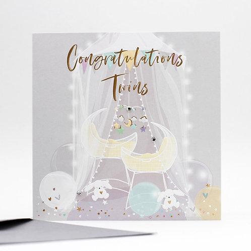 Congratulations Twins Card