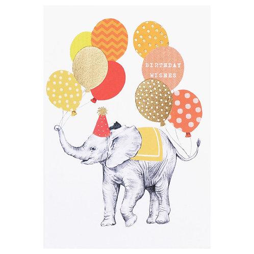 Birthday Wishes Elephant Card