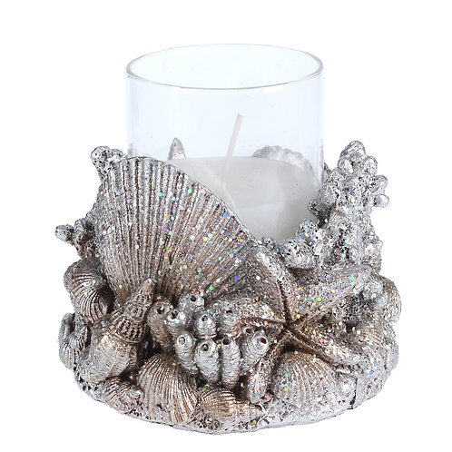 Gold Resin Shell Candle Light