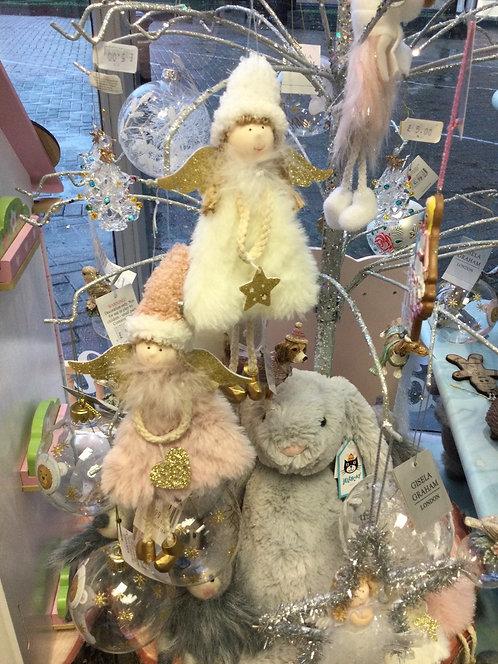 Faux Fur Fairy Decoration